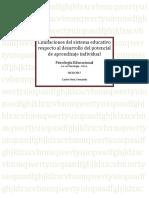 Limitaciones Del Sistema Educativo Inclusivo en El Desarrollo de La Potencialidad de Alumnos 2