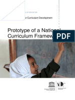 Prototype of a National Curriculm Framework 2017