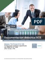 SCE ES 012-105 Hardware Configuration S7-1512C R1602