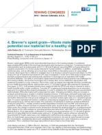 Uso de residuos de producción cervecera para productos alimenticios