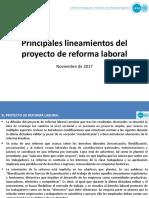 Principales Lineamientos del proyecto de Reforma Laboral