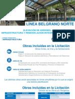 Elevación de andenes línea Belgrano Norte