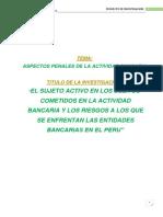 Proyecto de Investigación DERECHO BANCARIO