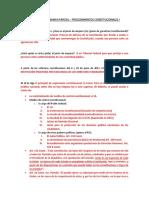 Guía – Primer Examen Parcial – Procedimientos Constitucionales i