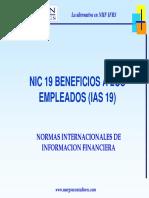 Beneficios a Empleados Nic 19