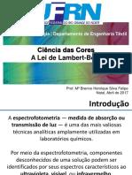 Cincia Das Cores - Lei de Lambert-Beer