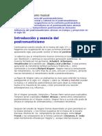 Post Romanticismo. Compositores Formas musicales y Panorama General