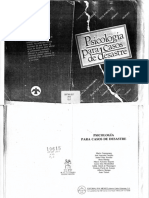 Psicología Para Casos de Desastre. 1987