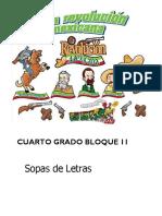 4to Grado - Bloque 2 - Sopa de Letras