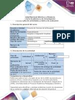Guía de Actividades y Rubrica de Evaluación-Fase 2 Reflexión