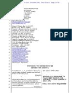 Defendants Response to Plaintiffs Request for Payment