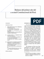 Balance Del Primer Año Del TC Del Perú