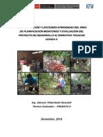 Sistematización de experiencias y lecciones aprendidas PRODATU II.