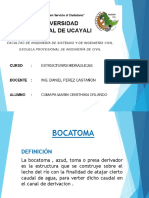 DISEÑO BOCATOMA