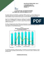INEGI. Cuenta Satélite de Instituciones Sin Fines de Lucro Privadas (2016) PIB Voluntariado