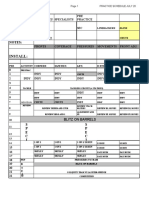 Practice Schedule Aug 9