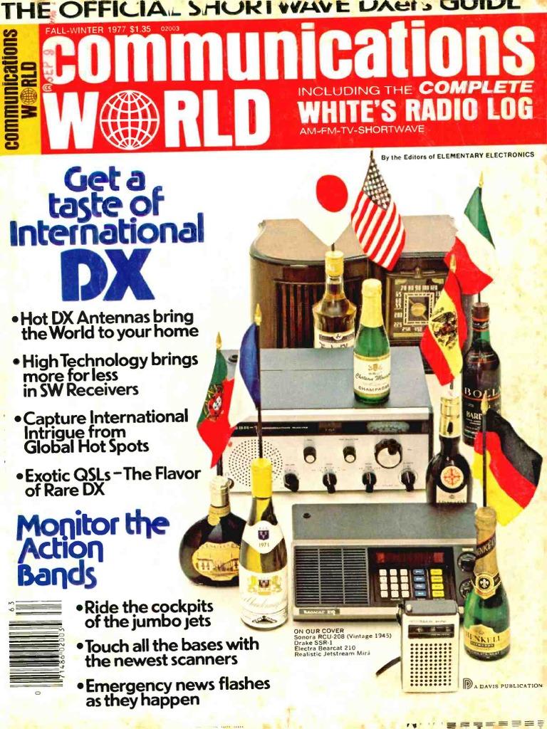 Communications World 1977 Fall Winter | Loudspeaker | Am Broadcasting