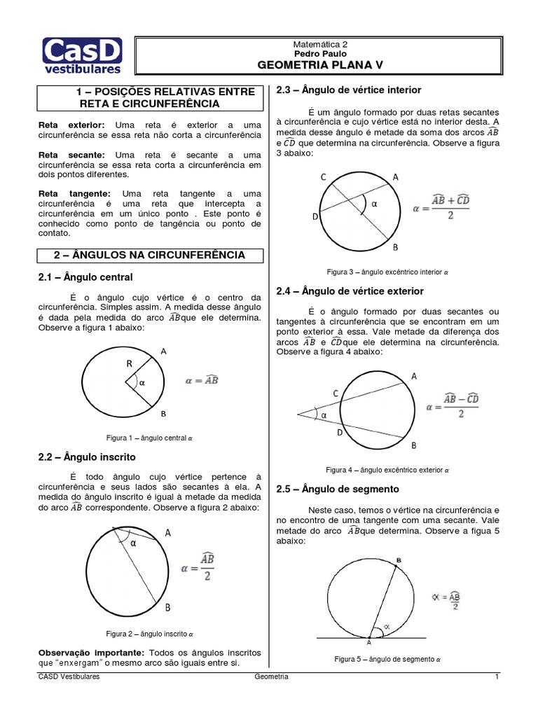 dc1560ce4e Geometria Plana