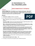 Federal Firearms Laws--DOJ