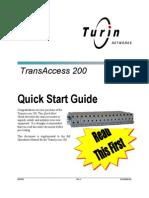 TA 200 Quick Start R4