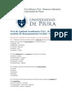225929588 Test de Aptitud Academico Universidad de Piura 2014