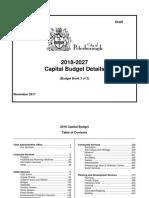 Book 3 2018 Draft Capital Budget Book