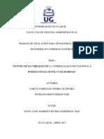 Factibilidad de La Comercializacion Nacional e Internacional de Polvo de Moringa Empastar