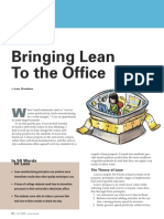 Bringing Lean to the Office