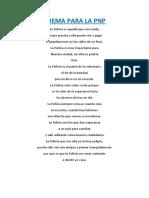 Poema Para La Pnp
