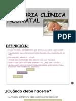 Historia Clínica Neonatal