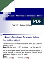 Nomes e Formulas de Compostos Ionicos 2016
