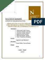 MEJORA DE PRODUCTIVIDAD