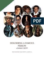Describing a Famous Person 2017- Johnny Deep