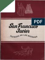 GOIBURU, J., San Francisco Javier, Patrono de Las Misiones, Editorial Pro Fide, 1952