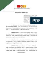 Resolução Nº 008.2009 - CPJ (PIC)