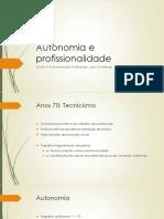 Aula 2 - Autonomia e Profissionalidade - Contreras