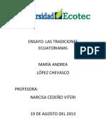 2013540194 4318 2013E CMU101 Tradiciones Ecuatorianas