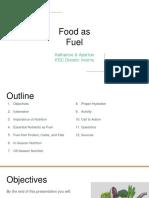 food as fuel presentation
