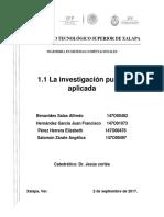 Ti_equipo1_1.1_la Investigación Pura y Aplicada
