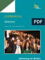 Lib Dem Autumn 2010 Conference - Directory Book