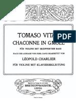 Vitali Charlier - Chaconne Piano