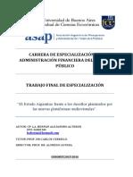 El Estado Argentino Frente a los desafìos planteados por la nuevas plataformas audiovisuales
