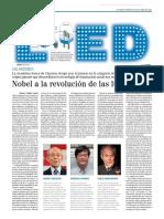 Nobel a la revolución de las luces LED