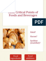 Halal Critical Point of Foods and Beverages -REV-1