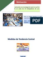 Semana 4.2-Medidas de Tendencia Central Ppt y Ejercicios