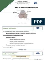 Tema II.1 Materia Prima en Los Procesos de Manufactura. Manufactura Discreta