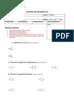 matematica 7 Fracciones