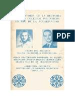 DECLARATORIA DE LA RECTORIA DE LOS COLEGIOS INICIATICOS EN PRO DE LA ACUARIANIDAD