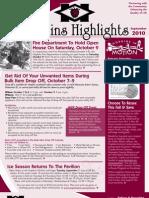 Hopkins Highlights - September 2010
