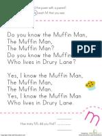 Find Letter m Nursery Rhyme